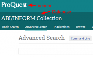 Proquest vender database