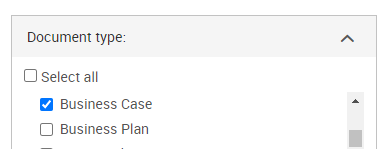 Use the business case document type in ProQuest to find business cases