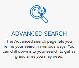 Click on the advanced search option to filter companies by caracteristics